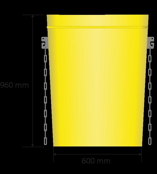Gesamtabmessungen in Millimetern: 700 x 410, 960 Höhe