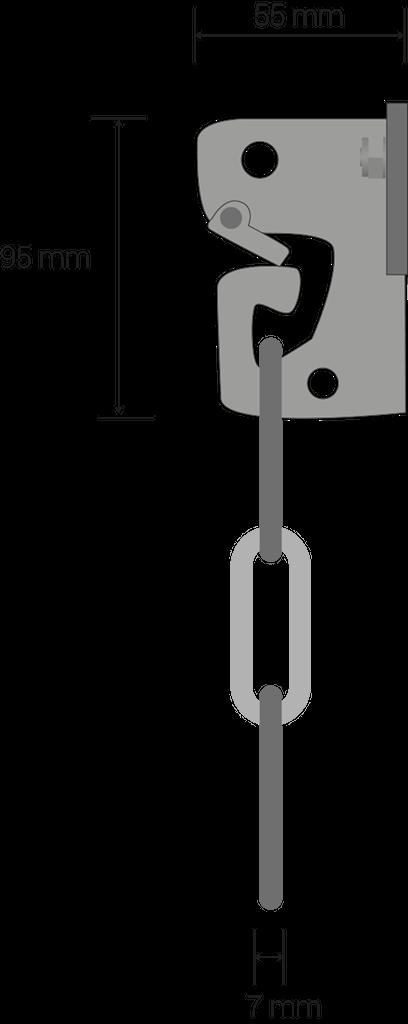 Gliederkette: 60 x 28 mm