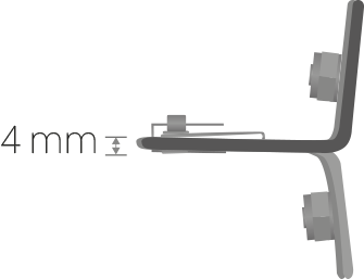 Verankerungsdicke: 4 mm