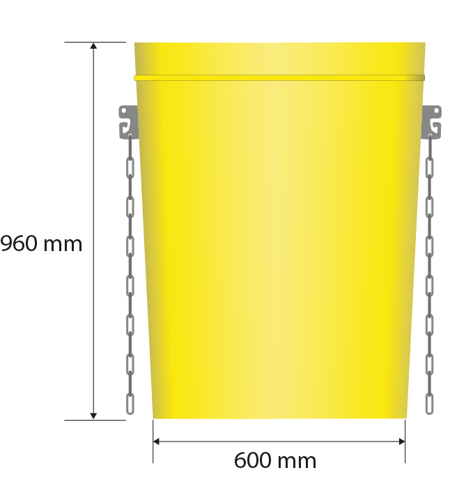 Total dimensions: 700 x 410 mm, 960 mm height