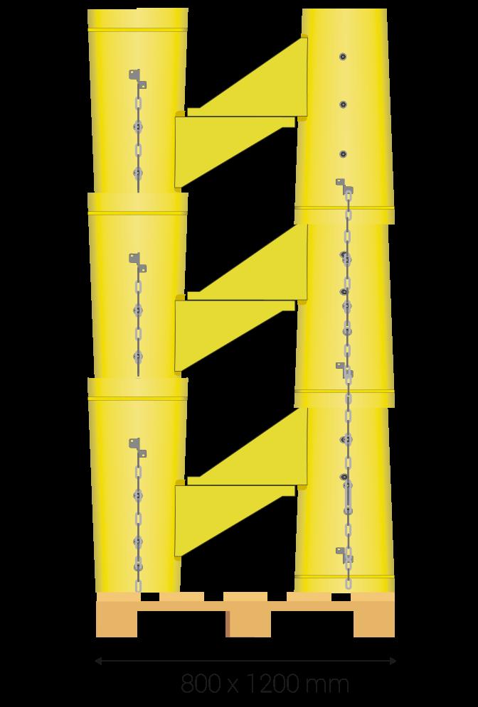 Pallet dimensions 80 x 120 cm