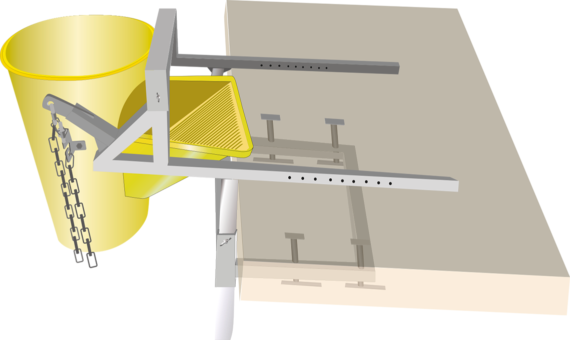 A fixing bracket for debris slide