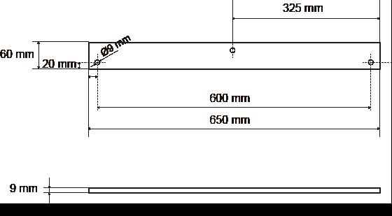 Mesures du palonnier de levage pour colonne ITM pour l'instalation d'un système de goulottes a chantier.