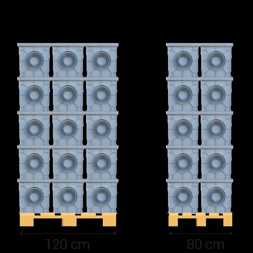 Palette dimensions: 80x120 centimétre