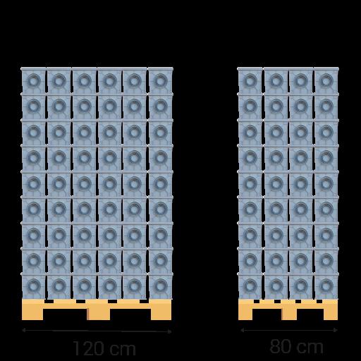 Palet de 80x120 milimetros.