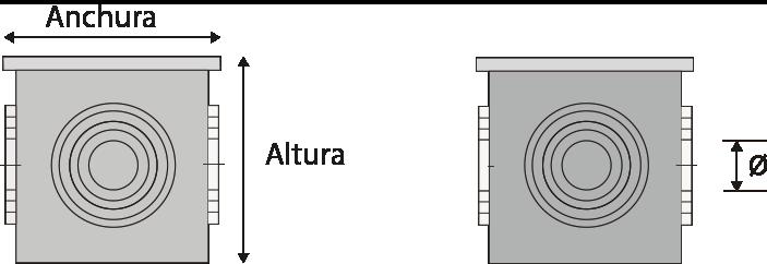 Arqueta con forma cúbica