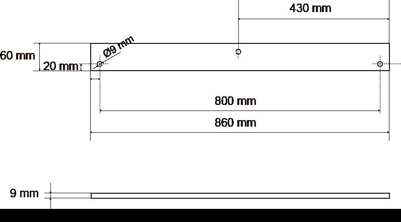 Medidas del larguero para la instalación de un sistema de tubos de escombros Maxi